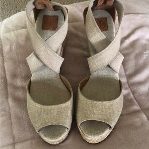 Tory Burch Wedges size 9.5-NWOB